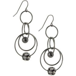 Bay Studio Multi Ring Beaded Drop Earrings