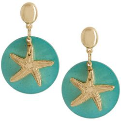 Bay Studio Gold Tone Starfish Shell Dangle Earrings