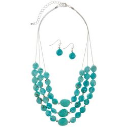 Bay Studio Turquoise Blue Beaded Necklace Set