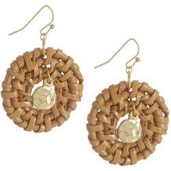 Bay Studio Gold Tone Woven Hoop Drop Earrings