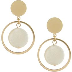 Bay Studio Gold Tone Ring & Shell Drop Earrings