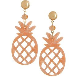 Bay Studio Coral Pineapple Drop Earrings