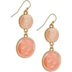 Bay Studio Marble Swirl Enamel Double Drop Earrings