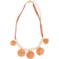 Bay Studio Coral Sea Life Charm Necklace
