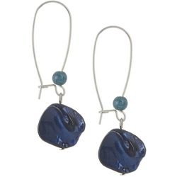Bay Studio Blue Shell Nugget Beaded Ear Wire Earrings