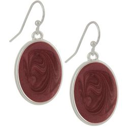 Bay Studio Red Oval Drop Earrings