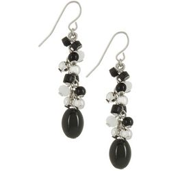 Bay Studio Black & White Beaded Linear Earrings