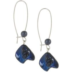 Bay Studio Long Ear Wire Blue Shell Nugget Earrings