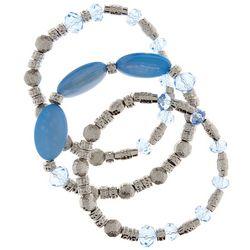 Bay Studio 3-pc. Blue Shell & Beaded Bracelet Set