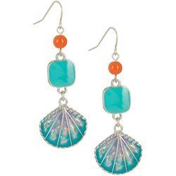 Bay Studio Enamel Seashell Drop Earrings