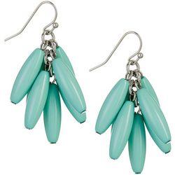 Bay Studio Turquoise Blue Oval Bead Cluster Drop Earrings