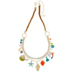 Bay Studio Braided Cord Sea Life Charm Necklace