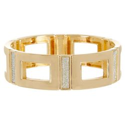 Bay Studio Gold Tone Open Link Stretch Bracelet