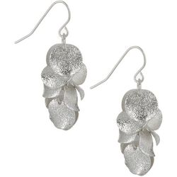 Bay Studio Silver Tone Disc Cluster Earrings