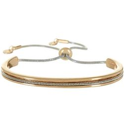 Bay Studio Two Tone Cuff & Slide Chain Bracelet