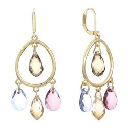 Gloria Vanderbilt Orbital Faceted Jewel Earrings