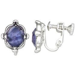 Napier Silver Tone 13mm Crystal Earrings