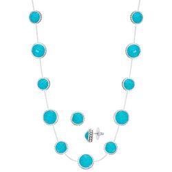Napier 2-pc. Silver Tone Bead Necklace & Earring Set