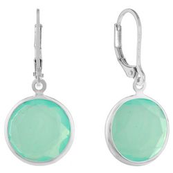Gloria Vanderbilt Teal Multi-Faceted Drop Earrings