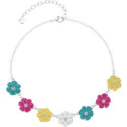 Gloria Vanderbilt Hibiscus Enamel Frontal Necklace
