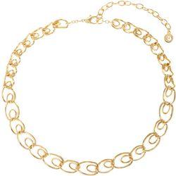 Gloria Vanderbilt Oval Ring Gold Tone Necklace