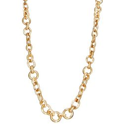 Napier Goldtone Assorted Size Link Chain Necklace
