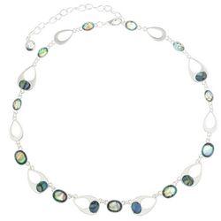 Gloria Vanderbilt Teardrop and Faceted Oval Necklace