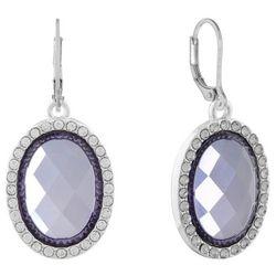 Gloria Vanderbilt Oval Crystal Rhinestone Earrings