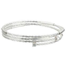 Napier Silver Tone Triple Row Coil Bracelet