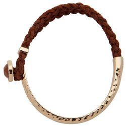 Chaps Half Braided Bangle Bracelet