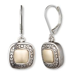 Etched Squares Dangle Earrings