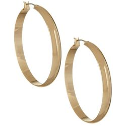 Napier 40mm Polished Gold Tone Hoop Earrings