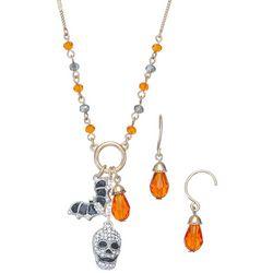 Napier 2-Pc. Halloween Charm Necklace & Earrings Set