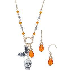 2-Pc. Halloween Charm Necklace & Earrings Set
