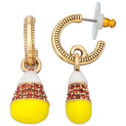 Napier Candy Corn C-Cuff Earrings