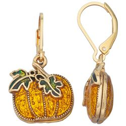 Napier Autumn Pumpkin Leverback Earrings