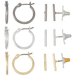 Nine West 6-Pc. Hoop & Stud Earrings Set