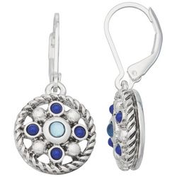 Napier Rope Accented Disc Drop Earrings