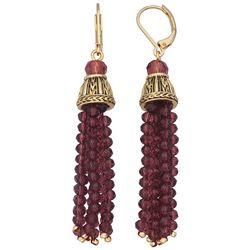Napier Beaded Tassel Earrings