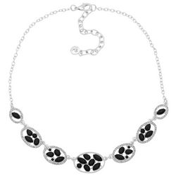 Gloria Vanderbilt Rhinestone Oval Linked Necklace