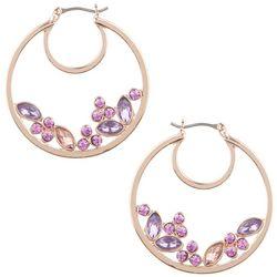 Gloria Vanderbilt Rose Gold Tone Teardrop Hoop Earrings
