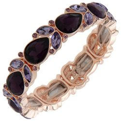 Gloria Vanderbilt Teardrop Rhinestone Stretch Bracelet