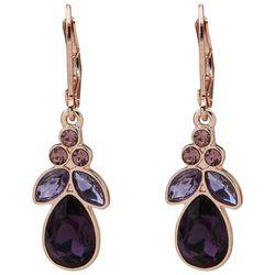 Gloria Vanderbilt Gold Tone Teardrop Rhinestone Earrings