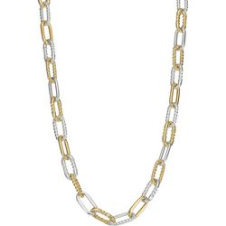 Napier Two Tone Oval Link Chain Necklace