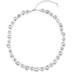 Napier Crystal Teardrop Link Collar Necklace