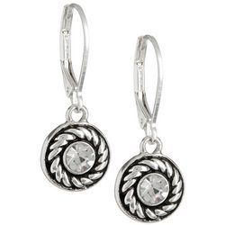 Napier Round Dangle Earrings