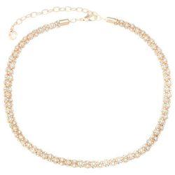 Gloria Vanderbilt Chain Link Rhinestone Necklace