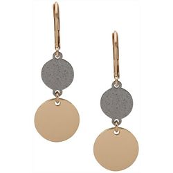 Nine West Dual Circular Drop Earrings