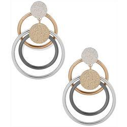 Nine West Tri-Tone Orbital Earrings