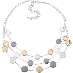 Nine West Tri-Tone Three Row Necklace